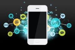 Bunte apps und Smartphone stockfotografie