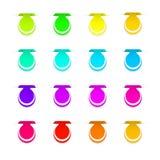 Bunte Aufkleber für Ihr Design lokalisiert auf weißem Hintergrund Lizenzfreie Stockfotografie