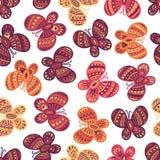 Bunte aufwändige Schmetterlinge auf dem weißen Hintergrund Lizenzfreie Stockfotos