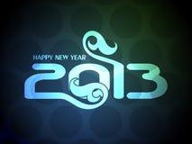 Bunte Auslegung des glücklichen neuen Jahres 2013. Stockfotografie