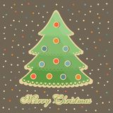Bunte Bälle des Baums des neuen Jahres Lizenzfreies Stockfoto