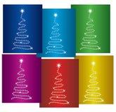 Bunte Bäume des neuen Jahres Lizenzfreie Stockfotografie