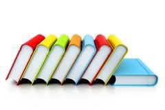 Bunte Bücher Stockfoto