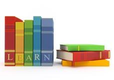 Bunte Bücher für das Lernen lizenzfreie abbildung