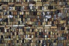 Bunte Backsteinmauer Lizenzfreie Stockbilder