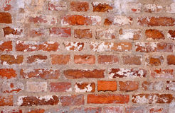 Bunte Backsteinmauer Stockfotografie