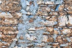 Bunte Backsteinmauer-Beschaffenheit Stockbild