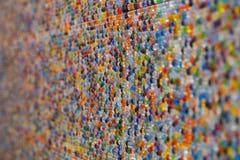 Bunte Backsteinmauerkristallart Stockfoto
