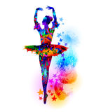 Bunte Ballerinaillustration Stockbilder