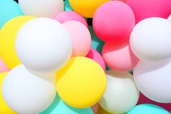 Bunte, bunte Ballone Lizenzfreie Stockbilder