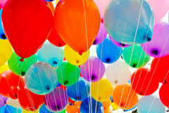 Bunte Ballone. Lizenzfreie Stockfotos
