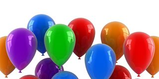 Bunte Ballone Lizenzfreie Stockfotos
