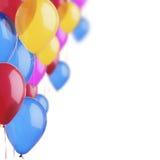 Bunte Ballone auf dem Weiß Lizenzfreies Stockfoto