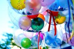 Bunte Ballone, Ballone Stockbild