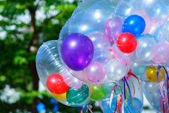 Bunte Ballone, Ballone Stockfoto