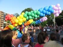 Bunte Ballone an der Parade Stockfotografie