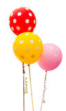 Bunte Ballone getrennt Stockfotos
