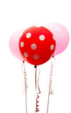 Bunte Ballone getrennt Stockfoto