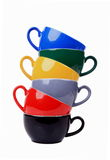 Bunte Becher Stockbild
