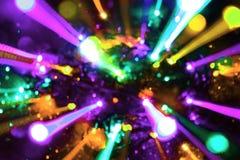 Bunte bewegliche Optikdrahtstrahlen masern - netten abstrakten Fotohintergrund lizenzfreie abbildung