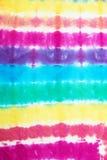 Bunte Bindung färbte Muster auf Baumwollgewebe für Hintergrund lizenzfreie stockfotos
