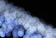Bunte blaue Leuchten Stockfotografie