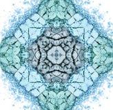 Bunte blaue Make-upmandala oder Verzierung, Muster Stockbilder