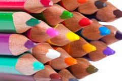 Bunte Bleistiftanordnung lizenzfreie stockbilder