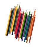 Bunte Bleistifte auf einem weißen Hintergrund Stockfotos