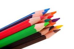 Bunte Bleistifte in der Nahaufnahme Stockbild