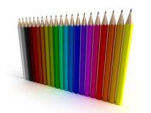 Bunte Bleistifte in der vertikalen Stellung lizenzfreie abbildung
