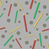 Bunte Bleistifte des nahtlosen Musters Lizenzfreie Stockbilder