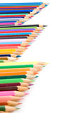 Bunte Bleistifte getrennt auf Weiß Lizenzfreie Stockbilder