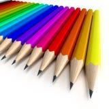 Bunte Bleistifte ordentlich angeordnet lizenzfreie abbildung