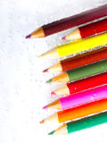 Bunte Bleistifte und Luftblasen Lizenzfreies Stockfoto