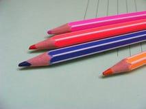 Bunte Bleistiftfarben Lizenzfreies Stockbild