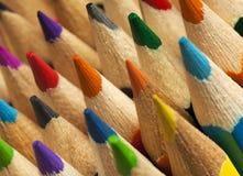 Bunte Bleistiftspitzen Lizenzfreies Stockbild
