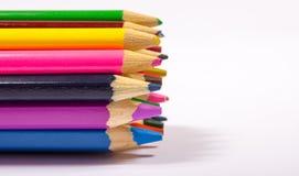 Bunte Bleistiftzeichenstifte Zurück zu Schule Stockbilder