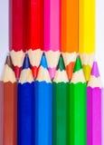 Bunte Bleistiftzeichenstifte Zurück zu Schule Lizenzfreie Stockbilder