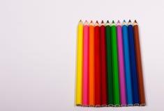 Bunte Bleistiftzeichenstifte Zurück zu Schule Stockfotografie