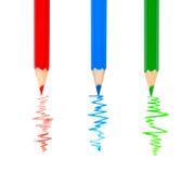 Bunte Bleistiftzeichnungszeile Stockbild