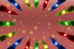 Bunte Blinklichter auf De fokussierten Kreishintergrund mit Kopienraum Lizenzfreie Stockfotos
