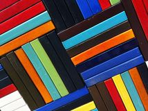 Bunte Blockmuster Lizenzfreies Stockfoto