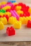 Bunte Blockspielwaren der Nahaufnahme Stockfotos