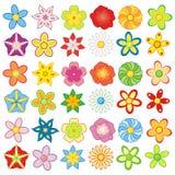 Bunte Blumen 6 Stücke Satz vektor abbildung