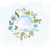 Bunte Blumen des Aquarells Stockfoto