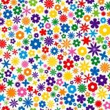 Bunte Blumen-Fliese Stockfotografie