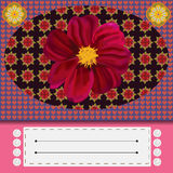 Bunte Blumengrußkarte Stockbilder