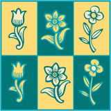 Bunte Blumenhintergründe Lizenzfreies Stockbild
