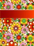 Bunte Blumenkarte lizenzfreie abbildung